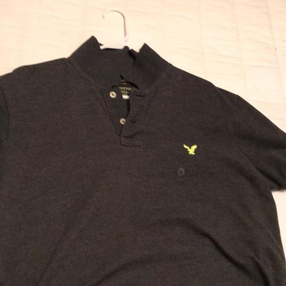 0aa9e28d American Eagle Outfitters Shirts | Mens Charcoal Polo L | Poshmark